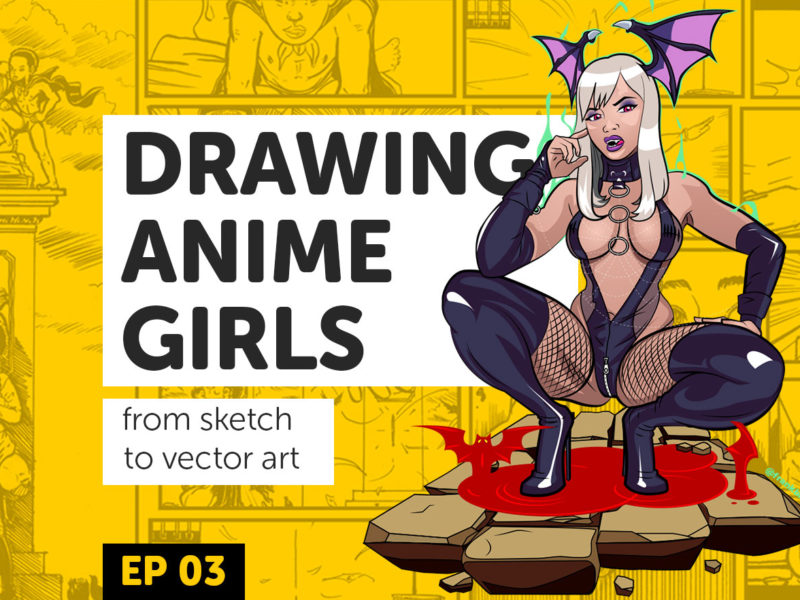 Drawing Anime Girls Ep 3